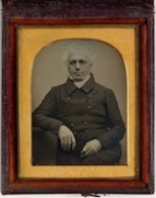 Daguerrotype of Dr William Bland (1789-1868), former convict, ca. 1845. This is the oldest surviving daguerrotype in Australia, image courtesy State Library of NSW.