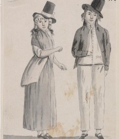 Convicts of New Holland, 1793, by Juan Ravenet, image courtesy SLNSW