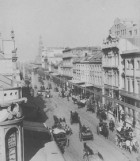 General view of George Street, Sydney from corner of George & King Street, Sydney, 1896, image by Henry King, image courtesy SLNSW