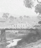 Bridge over Molonglo River on the Yass Road at Queanbeyan, taken by Sam Hood, image courtesy of the SLNSW.
