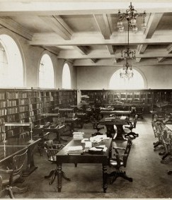Mitchell Library Reading Room, 1911-1912, photographer unknown, image courtesy of the SLNSW