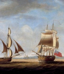 First Fleet ship the Borrowdale c1786, by Francis Holman, image courtesy of Australian National Maritime Museum 00009033