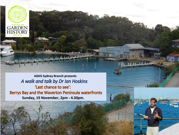 Last Chance to See: Berrys Bay and the Waverton Peninsula Waterfronts