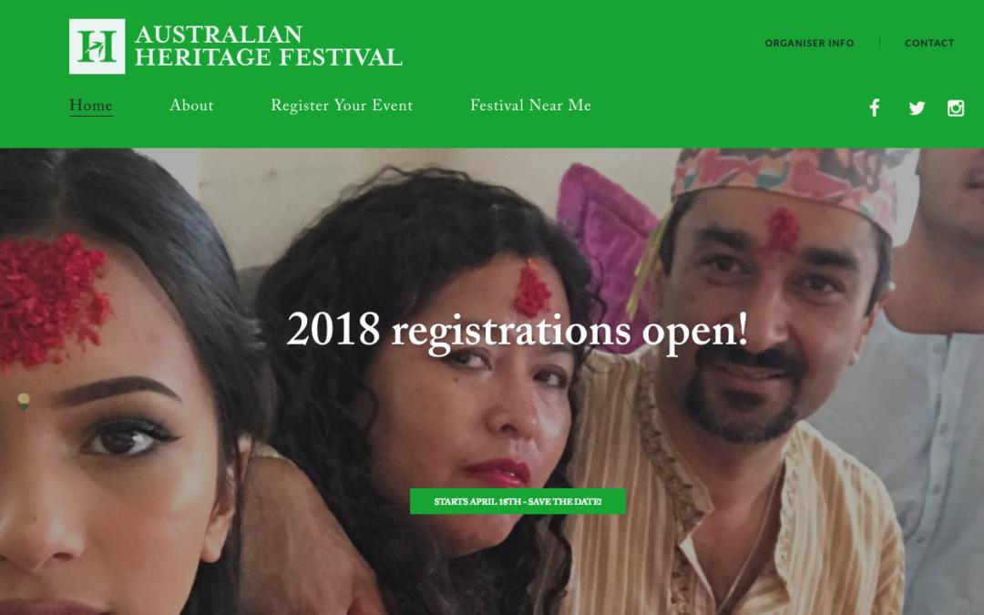 Australian Heritage Festival 2018 registrations open