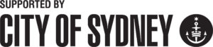 City of Sydney - supported by - Small Black - Horizontal