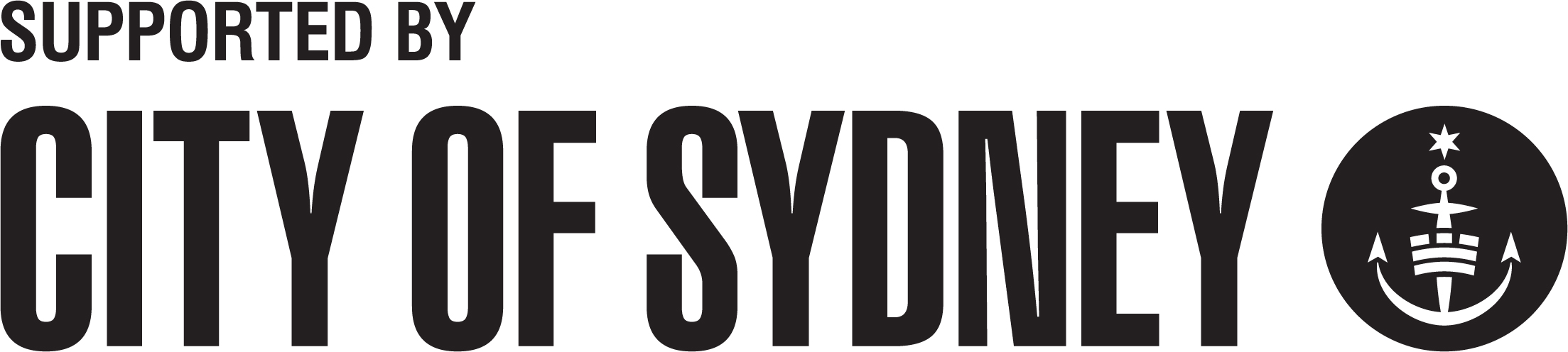 City of Sydney - supported by - horizontal