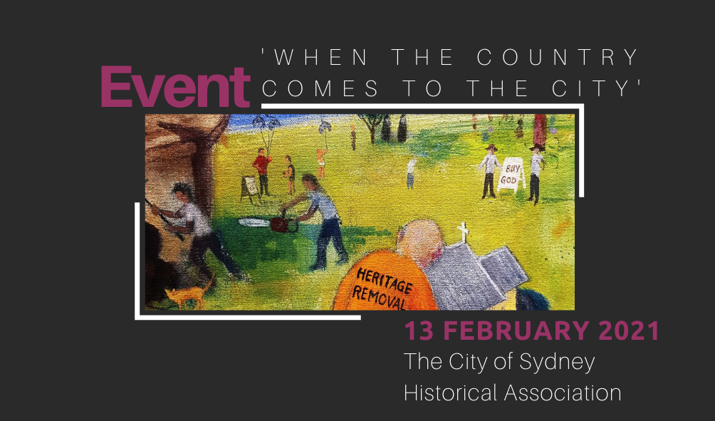 In-Person Talk | The City of Sydney celebrates 20 years 'When the country comes to the City' | Saturday 13 February 2021